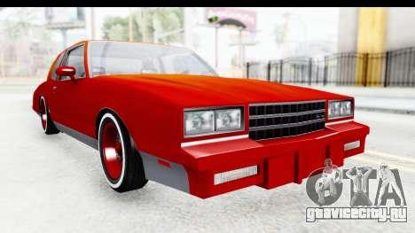 Chevrolet Monte Carlo Breaking Bad для GTA San Andreas вид справа