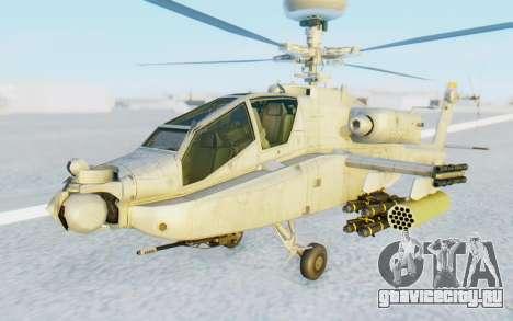 AH-64 Apache Marines для GTA San Andreas вид справа