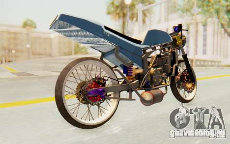 Kawasaki Ninja 150S Thailock для GTA San Andreas вид сзади слева
