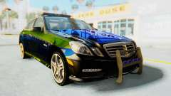 Mercedes-Benz E63 German Police Blue-Yellow для GTA San Andreas