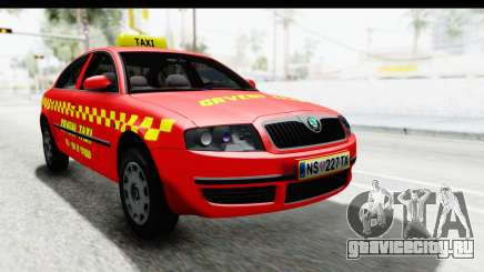 Škoda Superb Crveni Taxi для GTA San Andreas