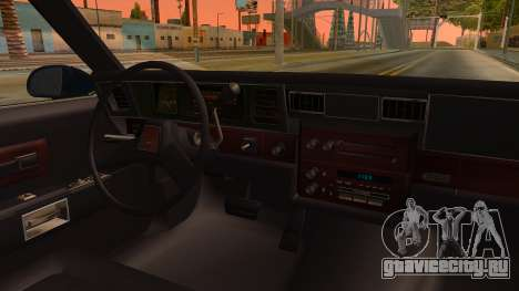 Chevrolet Caprice 1989 Station Wagon IVF для GTA San Andreas вид изнутри