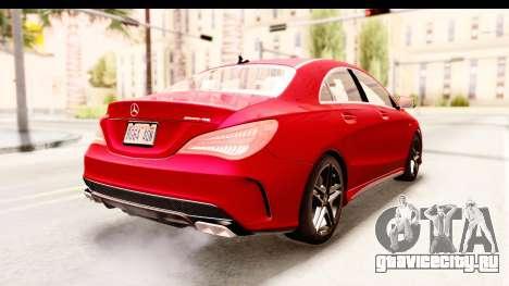 Mercedes-Benz CLA45 AMG 2014 для GTA San Andreas вид справа