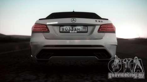 Mercedes-Benz E63 GSC для GTA San Andreas вид сзади слева