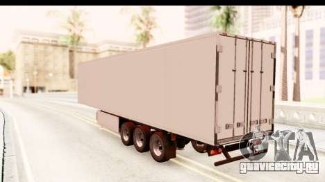 Trailer ETS2 v2 New Skin 1 для GTA San Andreas вид сзади слева