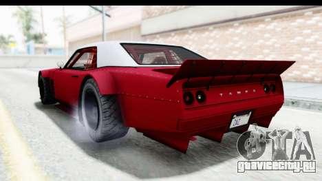 GTA 5 Declasse Drift Tampa IVF для GTA San Andreas вид справа