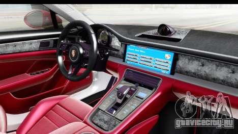 Porsche Panamera 4S 2017 v2 для GTA San Andreas вид изнутри