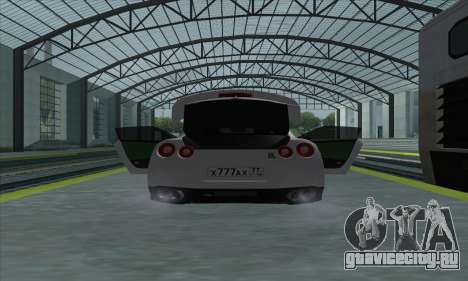 Nissan GT-R R35 Green Screen для GTA San Andreas вид справа
