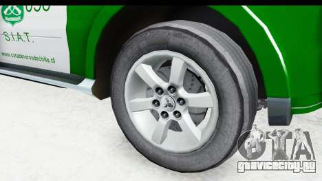 Mitsubishi Montero Carabineros Sección SIAT для GTA San Andreas вид сзади
