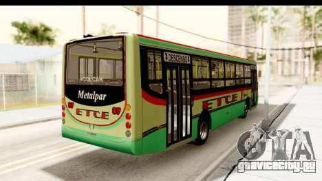 Metalpar Tronador 2 Puertas ETCE GTA Micros Arg для GTA San Andreas вид сзади слева