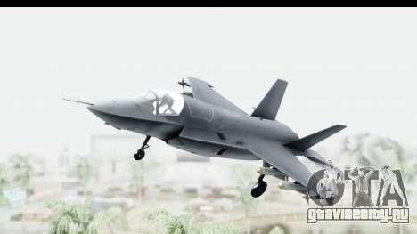 Lockheed Martin F-35B Lightning II для GTA San Andreas вид сзади слева