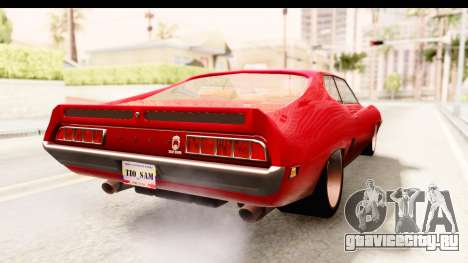 Ford Torino для GTA San Andreas вид сзади слева