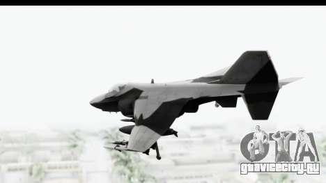 MGSV Phantom Pain Hydra v2 для GTA San Andreas вид слева