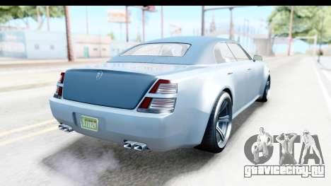 GTA 5 Enus Windsor Drop IVF для GTA San Andreas вид сзади слева