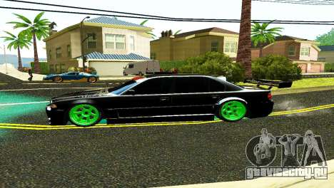 BMW 750 E38 Hamann Turbo Sports для GTA San Andreas вид сзади слева