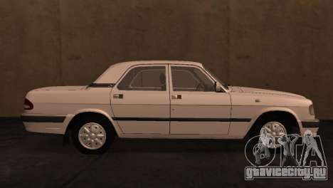 ГАЗ 3110 из сериала Чернобыль Зона отчуждения для GTA San Andreas вид слева