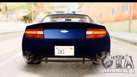 GTA 5 Dewbauchee Rapid GT для GTA San Andreas вид снизу