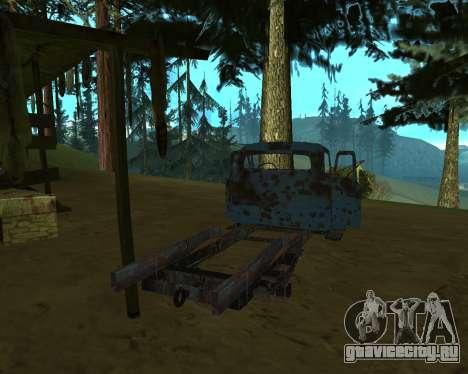 Старая ржавая ГАЗ 53 для GTA San Andreas третий скриншот