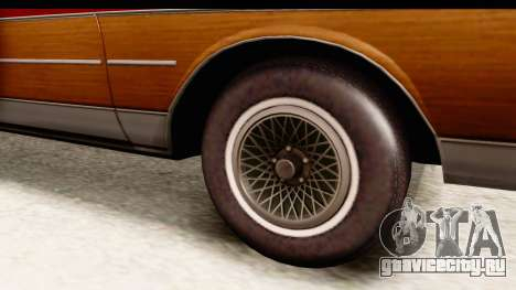Chevrolet Caprice 1989 Station Wagon IVF для GTA San Andreas вид сзади