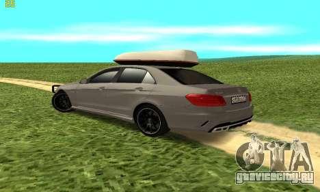 Mercedes Benz E63 AMG для GTA San Andreas вид справа