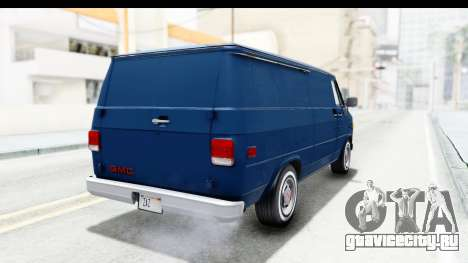 GMC Vandura 1985 White Stripes HQLM для GTA San Andreas вид сзади слева