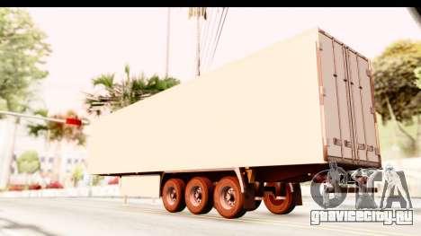 Trailer ETS2 v2 New Skin 2 для GTA San Andreas вид слева