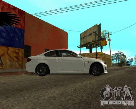 BMW M3 Armenian для GTA San Andreas вид слева