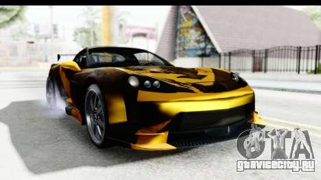 NFS Carbon Chevrolet Corvette для GTA San Andreas вид сзади слева