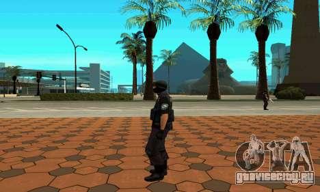 NextGen изменённого оригинального скина SWAT для GTA San Andreas шестой скриншот