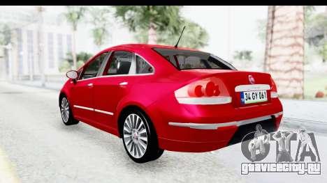 Fiat Linea 2015 v2 для GTA San Andreas вид сзади слева