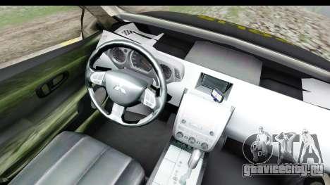 Mitsubishi L200 Indonesian Police для GTA San Andreas вид изнутри