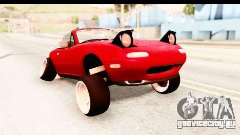 Mazda Miata with Crazy Camber для GTA San Andreas вид сзади слева