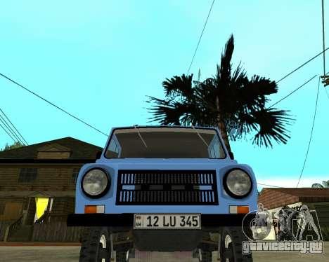 Luaz 969 Armenian для GTA San Andreas вид слева