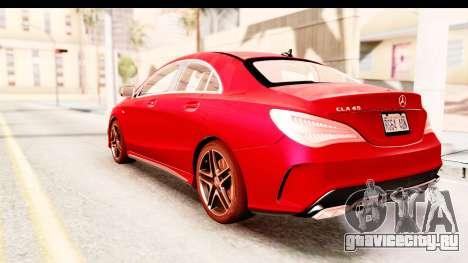 Mercedes-Benz CLA45 AMG 2014 для GTA San Andreas вид слева