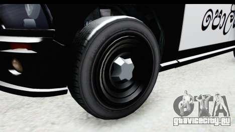 Sri Lanka Police Car v2 для GTA San Andreas вид сзади