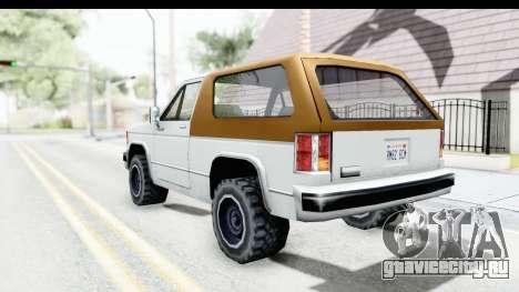 Ford Bronco from Bully для GTA San Andreas вид слева