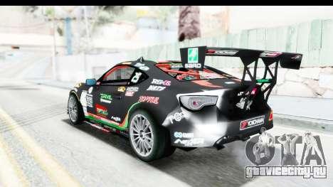 D1GP Toyota 86 2015 DRIVE для GTA San Andreas вид сзади слева