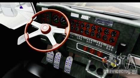 Kenworth T800 Centenario Studio Sleeper Toys для GTA San Andreas вид изнутри