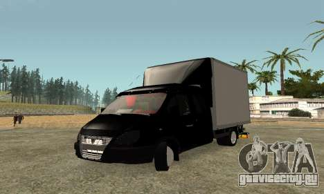 ГАЗель 33023 Фермер для GTA San Andreas вид изнутри
