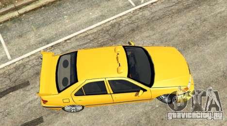 Taxi Peugeot 406 v1.0 для GTA 5 вид сзади