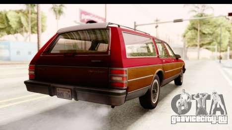 Chevrolet Caprice 1989 Station Wagon IVF для GTA San Andreas вид сзади слева