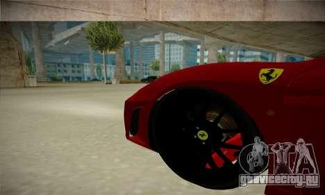 Ferrari F430 Spider для GTA San Andreas вид сзади