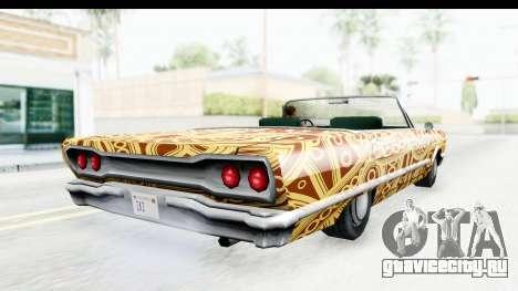 Savanna New PJ для GTA San Andreas вид изнутри
