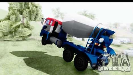 Nissan Diesel UD Big Thumb Cement Babena для GTA San Andreas вид сзади слева