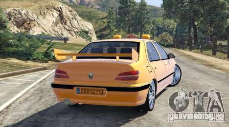 Taxi Peugeot 406 v1.0 для GTA 5 вид слева