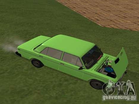 ВАЗ 2106 для GVR для GTA San Andreas вид сзади слева