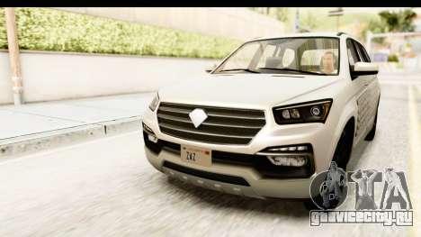 GTA 5 Benefactor XLS IVF для GTA San Andreas вид изнутри