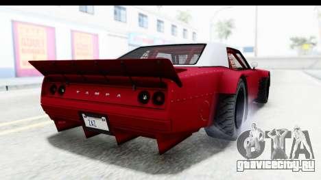 GTA 5 Declasse Drift Tampa IVF для GTA San Andreas вид слева