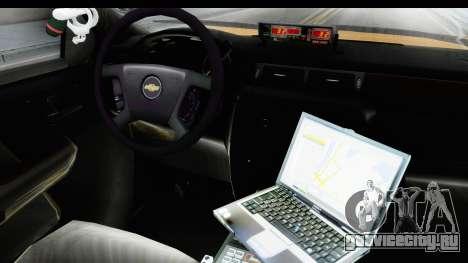 Chevrolet Silvedaro Basarnas для GTA San Andreas вид изнутри
