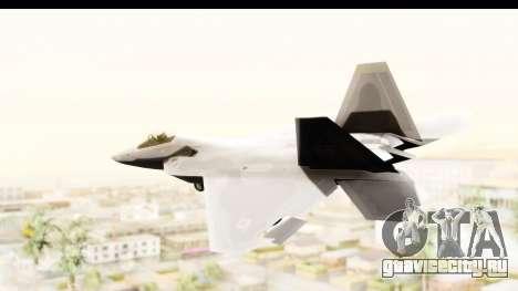 Lockheed Martin F-22 Raptor для GTA San Andreas вид слева